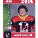 ALEX POTOCKO 2014 Maryland MD Big 33 High School card