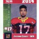 JAVONN CURRY 2014 Maryland MD Big 33 High School card