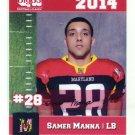 SAMER MANNA 2014 Maryland MD Big 33 High School card