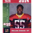 SHELDON JOHNSON 2014 Maryland MD Big 33 High School card