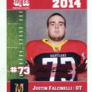 JUSTIN FALCINELLI 2014 Maryland MD Big 33 High School card CLEMSON Tigers