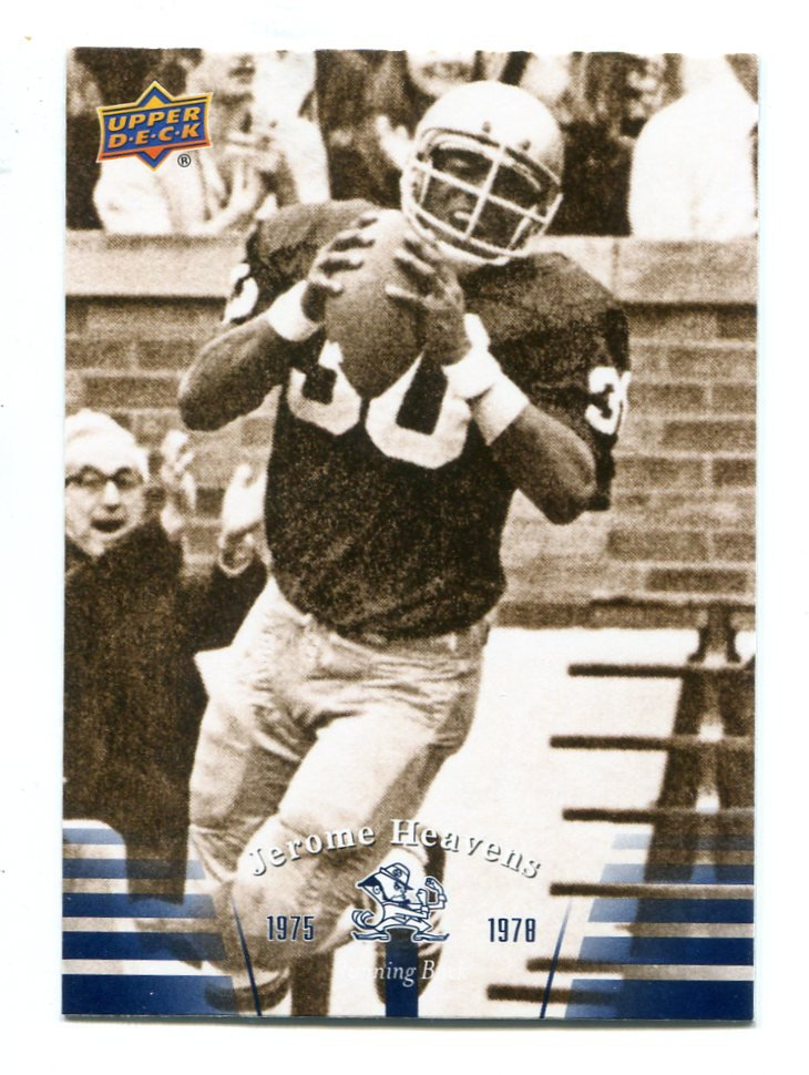 JEROME HEAVENS 2013 Upper Deck UD Collectible #32 Notre Dame Irish