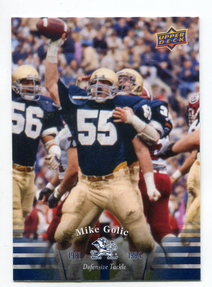 MIKE GOLIC 2013 Upper Deck UD Collectible #40 Notre Dame Irish