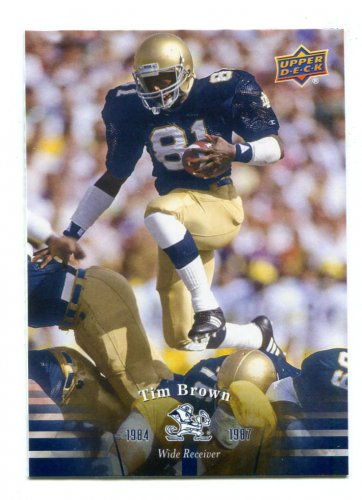 free shipping f1090 a43c3 TIM BROWN 2013 Upper Deck UD Collectible #42 Notre Dame ...