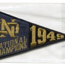 1949 National Champions PENNANT 2013 Upper Deck UD Collectible Notre Dame Irish SEALED