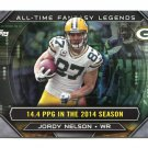 JORDY NELSON 2015 Topps All-Time Fantasy Legends INSERT Kansas State GREEN BAY PACKERS QB