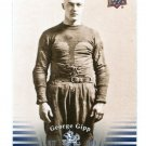 """GEORGE """"The Gipper"""" GIPP 2013 Upper Deck UD Collectible #2 Notre Dame Irish"""