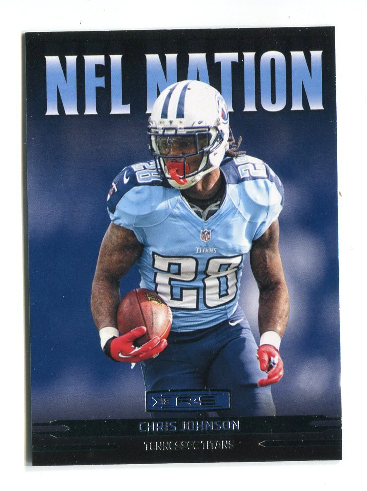 CHRiS JOHNSON 2013 Panini R&S NFL Nation INSERT Titans