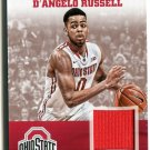 D'ANGELO RUSSELL 2015 Panini Collegiate Collection JERSEY Rookie OHIO STATE BUCKEYES Lakers