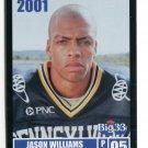 JASON WILLIAMS 2001 Big 33 Pennsylvania PA card UCONN Huskies