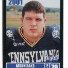 JASON SAKS 2001 Big 33 Pennsylvania PA card VILLANOVA  OL / DL
