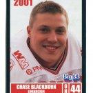 CHASE BLACKBURN 2001 Big 33 Ohio OH card AKRON NY Giants LB