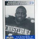 ASKARI ADAMS 1995 Big 33 Pennsylvania PA High School card PENN STATE