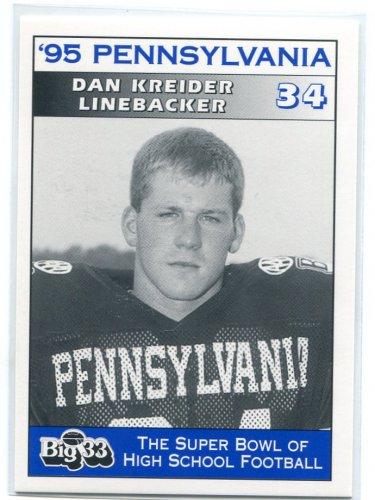 DAN KREIDER 1995 Big 33 Pennsylvania PA High School card STEELERS FB
