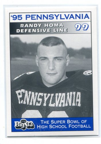 RANDY HOMA 1995 Big 33 Pennsylvania PA High School card OHIO STATE Buckeyes