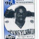 JORDAN SCOTT 1996 Big 33 Pennsylvania High School card BISHOP McDEVITT DB / QB
