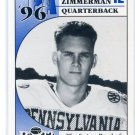TONY ZIMMERMAN 1996 Big 33 Pennsylvania High School card PITT Panthers QB