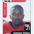ANTOINE FISHER 1998 Big 33 Ohio OH High School card NOTRE DAME Irish RB