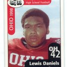 LEWIS DANIELS 1998 Big 33 Ohio OH High School card WEST VIRGINIA Mountaineers