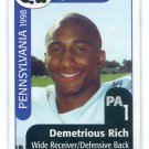 DEMETRIOUS RICH 1998 Big 33 Pennsylvania PA High School card PITT Panthers