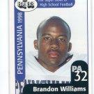 BRANDON WILLIAMS 1998 Big 33 Pennsylvania PA High School card PITT Panthers