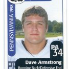 DAVE ARMSTRONG 1998 Big 33 Pennsylvania PA High School card MICHIGAN Wolverines