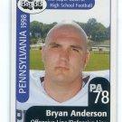 BRYAN ANDERSON 1998 Big 33 Pennsylvania PA High School card PITT Panthers