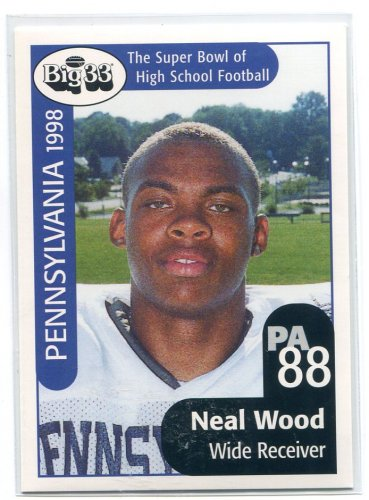 NEAL WOOD 1998 Big 33 Pennsylvania PA High School card PENN STATE