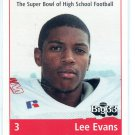 LEE EVANS 1998 Big 33 Ohio OH High School card WISCONSIN Badgers BILLS