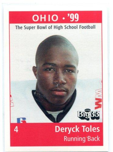 DERYCK TOLES 1999 Big 33 Ohio OH High School card PENN STATE