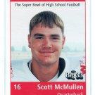 SCOTT McMULLEN 1998 Big 33 Ohio OH High School card OHIO STATE Buckeyes QB