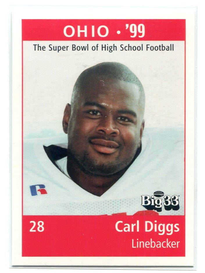 CARL DIGGS 1998 Big 33 Ohio OH High School card MICHIGAN Wolverines