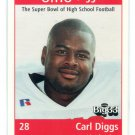 CARL DIGGS 1998 Big 33 Ohio OH High School card MICHIGAN Wolverines