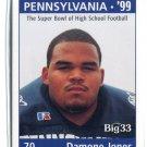 DAMONE JONES 1998 Big 33 Pennsylvania PA High School card PENN STATE
