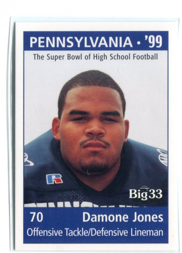 DAMONE JONES 1998 Big 33 Pennsylvania PA High School card PENN STATE