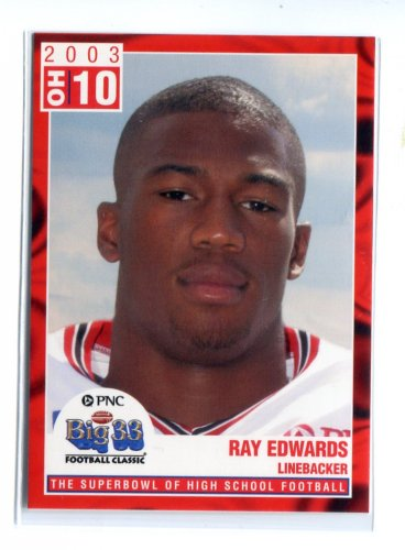 RAY EDWARDS 2003 Big 33 Ohio OH High School card PURDUE Vikings