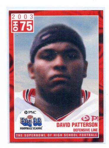 DAVID PATTERSON 2003 Big 33 Ohio OH High School card OHIO STATE Buckeyes