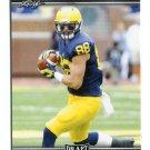 JAKE BUTT 2017 Leaf Draft #30 ROOKIE Michigan Wolverines TE