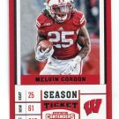 MELVIN GORDON 2017 Panini Contenders Draft Picks #76 WISCONSIN Badgers CHARGERS