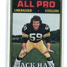 JACK HAM 1974 Topps #137 2nd YEAR Steelers PENN STATE Nittany Lions G