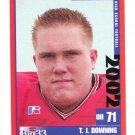 T.J. TJ DOWNING 2002 Big 33 Ohio OH High School card OHIO STATE Buckeyes