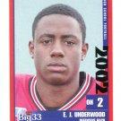 E.J. EJ UNDERWOOD 2002 Big 33 Ohio OH High School card OHIO STATE Buckeyes NY GIANTS