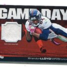 BRANDON LLOYD 2011 Upper Deck UD Game Day JERSEY Illinois Illini BRONCOS