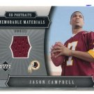 JASON CAMPBELL 2005 Upper Deck UD Portraits JERSEY ROOKIE Auburn Tigers REDSKINS QB