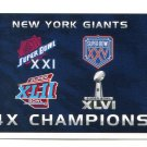 LH) 4x CHAMPIONS 2015 Panini Stickers #246 New York NY GIANTS