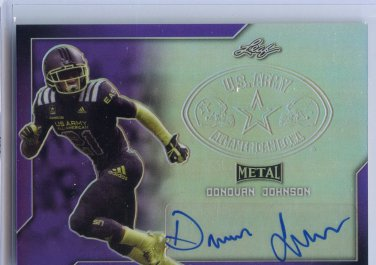 DONOVAN JOHNSON 2017 Leaf Army All-American AUTO PURPLE Penn State 4-star CB #d/25