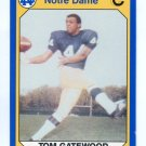 TOM GATEWOOD 1990 Notre Dame Collegiate Collection #69