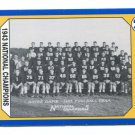 1943 National Campions 1990 Notre Dame Collegiate Collection #127