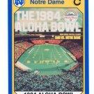 1984 Aloha Bowl vs. SMU 1990 Notre Dame Collegiate Collection #66