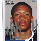 MALIK GENERETT 2009 Big 33 Pennsylvania High School card AUTO Autograph UCONN Huskies B